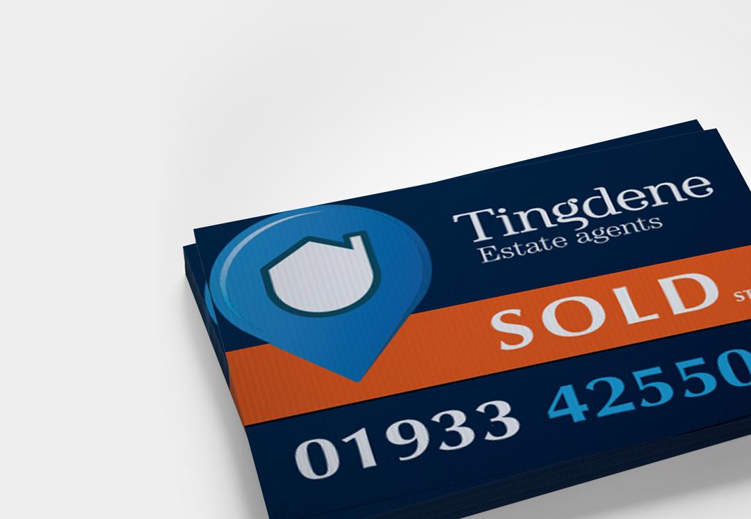 Redesign of Tingdene Estate Agency Board | Phill Brown Design